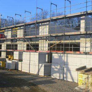 Baufortschritt am Wohncarree-Witthausbusch 2