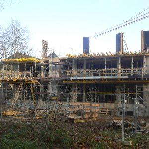 Baufortschritt am Wohncarree-Witthausbusch 1