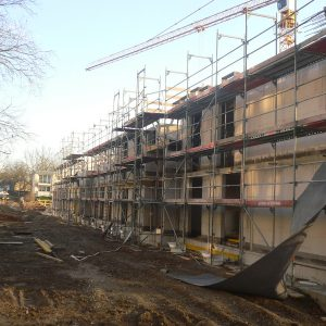 Baufortschritt am Wohncarree-Witthausbusch