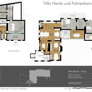 VERMIETET! - Atelier, Showroom, Büro! Arbeiten in herrschaftlicher Atmosphäre in kernsanierter Villa Henle!